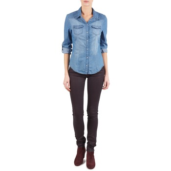 material Women slim jeans Replay LUZ Violet