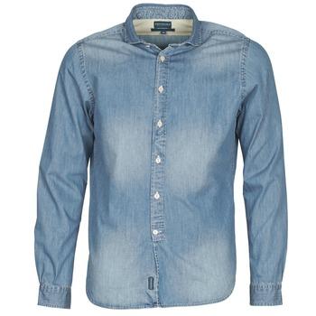 material Men long-sleeved shirts Façonnable PLUSAMO Blue