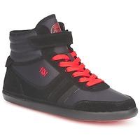 Shoes Women High top trainers Dorotennis MONTANTE STREET LACETS + VELCRO Black