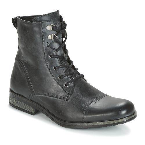 Shoes Men Mid boots Casual Attitude RIBELLE Black