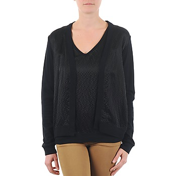 material Women Jackets / Cardigans Majestic 238 Black