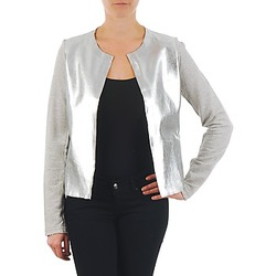 material Women Jackets / Blazers Majestic 93 Grey / Silver
