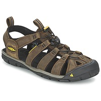 Shoes Men Sports sandals Keen CLEARWATER CNX LEATHER Brown / Black