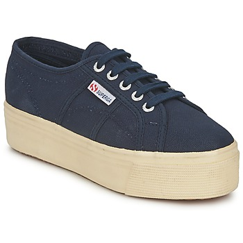 Shoes Women Low top trainers Superga 2790 LINEA UP AND Marine