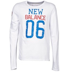 material Men Long sleeved shirts New Balance NBSS1404 GRAPHIC LONG SLEEVE TEE White