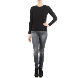 material Women slim jeans 7 for all Mankind THE SKINNY DARK STARS PAVE Grey