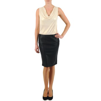 material Women Skirts La City JUPE BIMAT Black
