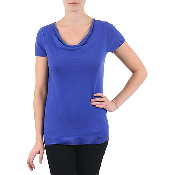 material Women short-sleeved t-shirts La City PULL COL BEB Blue