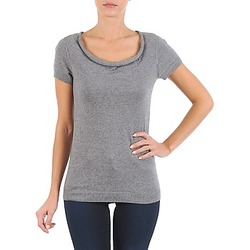 material Women short-sleeved t-shirts La City PULL COL BEB Grey