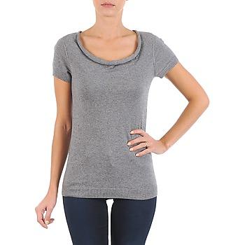 material Women short-sleeved t-shirts La City PULL COL BEB Grey