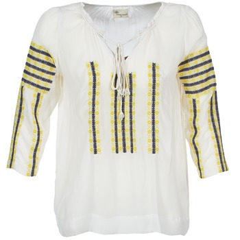 material Women Blouses Stella Forest ATU025 White / Grey / Yellow