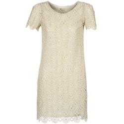 material Women Short Dresses Stella Forest ARO051 Ecru / Gold