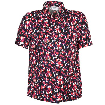 material Women short-sleeved shirts American Retro NEOSHIRT Black / Pink / Orange