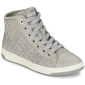 Shoes Girl High top trainers Geox CREAMY B Grey