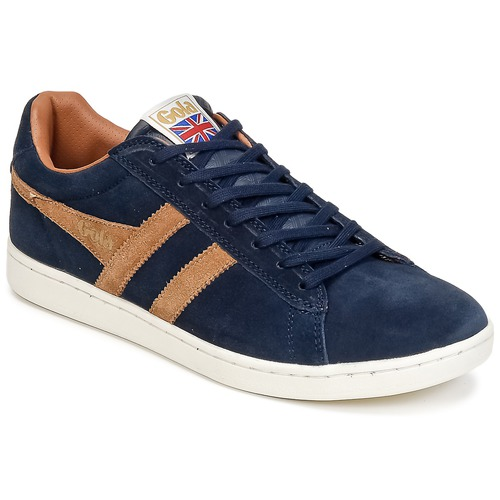 Shoes Men Low top trainers Gola EQUIPE SUEDE Marine / Brown