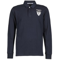 material Men long-sleeved polo shirts Serge Blanco RUGBY LEAGUE Marine