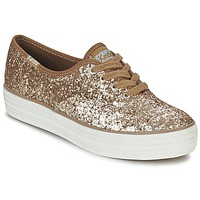 Shoes Women Low top trainers Keds TRIPLE GLITTER Gold