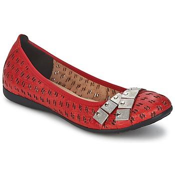 Shoes Women Ballerinas Un Matin d'Ete DISTRICTY Red