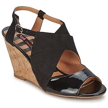 Shoes Women Sandals Chocolate Schubar ELVINA Black