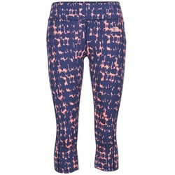 material Women leggings The North Face PULSE CAPRI TIGHT Marine / Pink