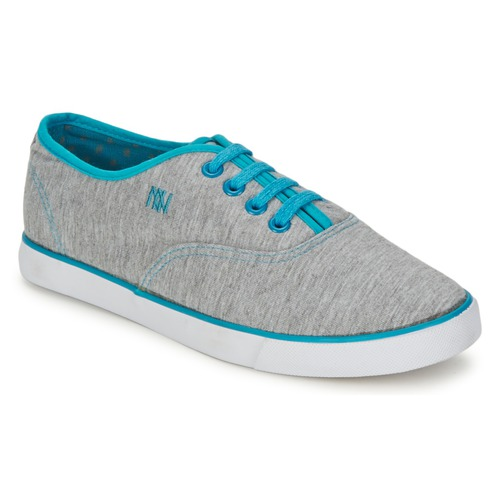 Shoes Women Low top trainers Dorotennis C1 TENNIS RICHELIEU LACETS SEMELL JERSEY Grey / Turquoise