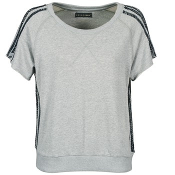 material Women short-sleeved t-shirts Religion B114HRW02 Grey