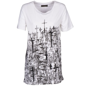 material Women short-sleeved t-shirts Religion B123CND13 White