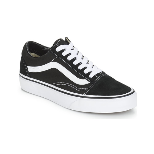 Vans OLD SKOOL Black   White - Free delivery with Spartoo NET ... be58bba5a5d