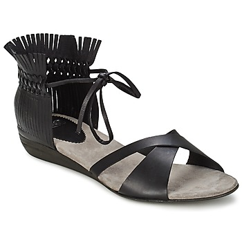 Shoes Women Sandals Fru.it TRIVENTA Black