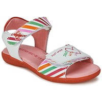 Shoes Girl Sandals Agatha Ruiz de la Prada CAZOLETA White / Multicolour