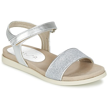 Shoes Women Sandals Unisa PARCE Silver / White