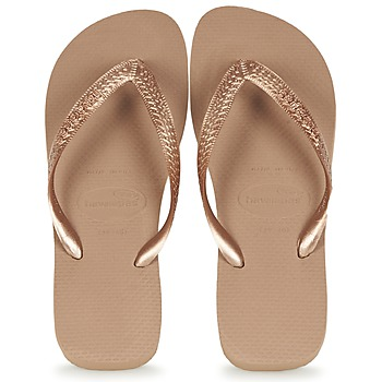 Shoes Women Flip flops Havaianas TOP METALLIC Pink / Gold