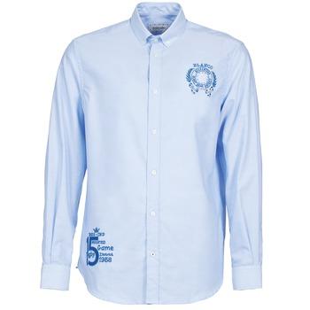 material Men long-sleeved shirts Serge Blanco ANTONIO Blue