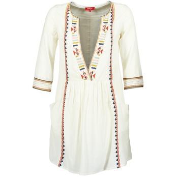 material Women Short Dresses Derhy EMBOUCHURE ECRU