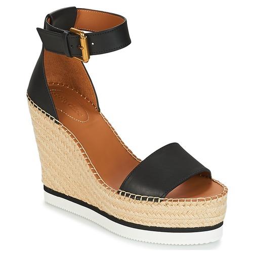 Shoes Women Espadrilles See by Chloé SB26152 Black / White