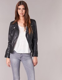 material Women Leather jackets / Imitation le Oakwood CAMERA Black