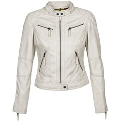 material Women Leather jackets / Imitation le Oakwood 60135 White