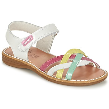 Shoes Girl Sandals Pablosky ATINA White / Multicoloured