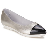 Shoes Women Ballerinas Alba Moda DRINITE Silver / Black