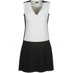 material Women Short Dresses Joseph DORIA Black / White