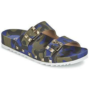 Shoes Women Mules Ash UBUD Blue / Camouflage