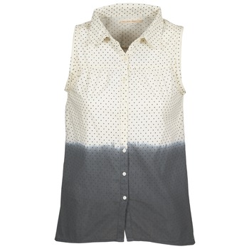 material Women Shirts Teddy Smith CAMILLE Blue / Ecru