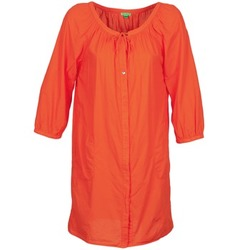material Women Short Dresses Bensimon FOURTY Orange