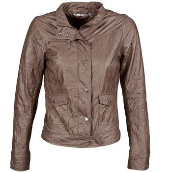 material Women Leather jackets / Imitation le DDP GIRUP Brown