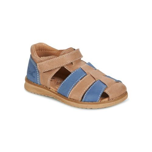 Shoes Boy Sandals Citrouille et Compagnie FRINOUI Brown / Blue