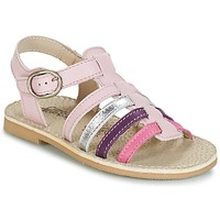 Shoes Girl Sandals Citrouille et Compagnie JASMA Pink / Violet