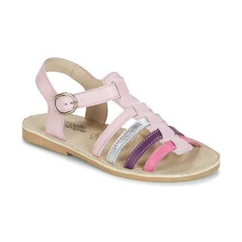 Shoes Girl Sandals Citrouille et Compagnie JASMA Pink / Violet