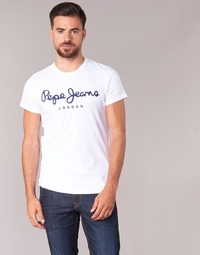 material Men short-sleeved t-shirts Pepe jeans ORIGINAL STRETCH White