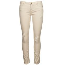material Women cropped trousers Acquaverde SCARLETT Beige
