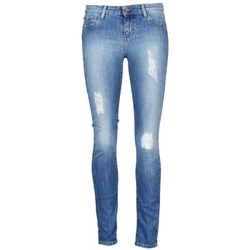 material Women cropped trousers Acquaverde SCARLETT Blue